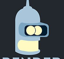 Bender Bending Rodriguez by James Frewin
