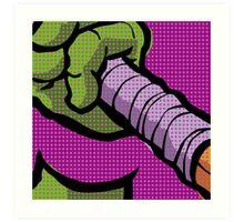 Lichtenstein Pop Martial Art Quelonians   Purple Art Print