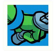 Lichtenstein Pop Martial Art Quelonians   Blue Art Print