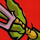 Lichtenstein Pop Martial Art Quelonians   Red by butcherbilly