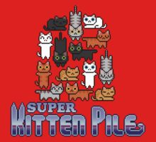 Super Kitten Pile (Logo) T-Shirt