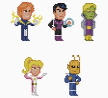 LEGION OF SUPERHEROES PIXEL FIGURE STICKER SET by Pixelfigures