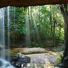 Oakland Falls Cave, Hazelbrook, New South Wales, Australia by Michael Boniwell