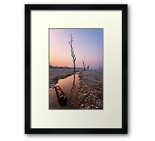 Silence of the dusk Framed Print