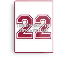 22 Sport Jersey  Metal Print