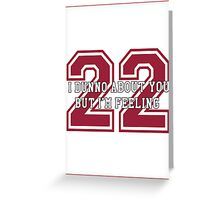 22 Sport Jersey  Greeting Card