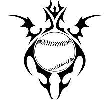 baseball tribalz Photographic Print