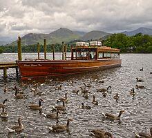 Derwentwater Boat Scene 2 by DavidWHughes