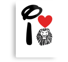 I Heart The Lion King (Inverted) Metal Print