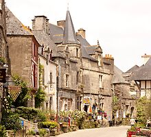 Main Street in the Village of Rochefort en Terre - Brittany France by Buckwhite