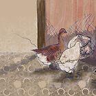 Feeding time on the farm by Adriel Knowling