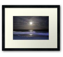 Misty Super Moon Framed Print