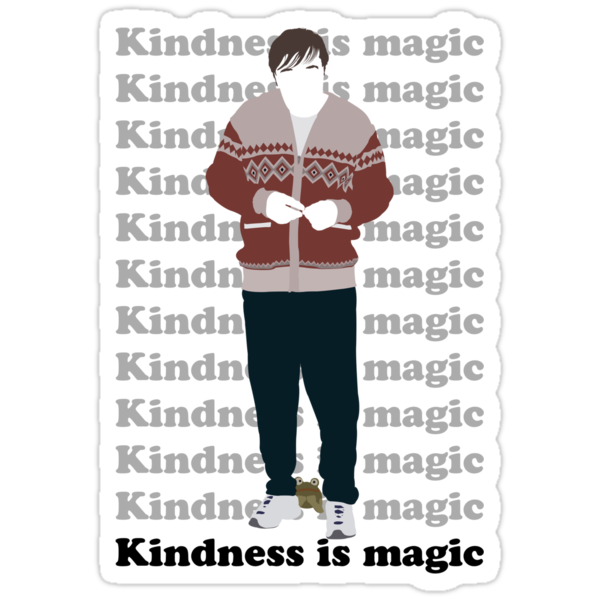 Derek (Ricky Gervais) Kindness is Magic 3 by Posteritty