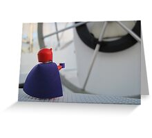Nigel dreams of a way to steer the boat Greeting Card