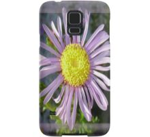 Close Up Lilac Aster With Bright Yellow Centre Samsung Galaxy Case/Skin