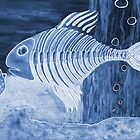 Blue Bonefish - Mixed Media by M Rogers