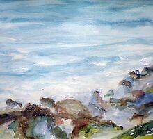 Gulf Coast Waves n; Rocks by Hal Newhouser