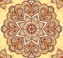 Ornate vintage vector napkin by 1enchik