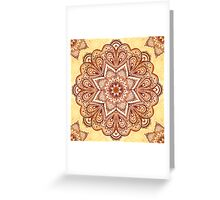 Ornate vintage vector napkin Greeting Card