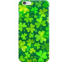 Green magic clovers pattern iPhone Case/Skin