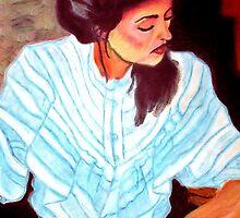 Lady in white by AdagioArt