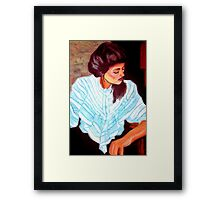 Lady in white Framed Print