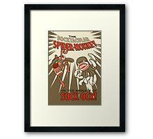 Socktacular Spider-Monkey Framed Print