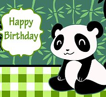 """Happy Birthday"" Cute Panda by SaradaBoru"