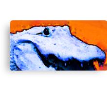 Gator Art - Swampy by Sharon Cummings Canvas Print