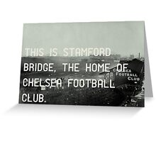 Chelsea Football Club Greeting Card