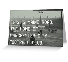 Manchester City Football Club Greeting Card