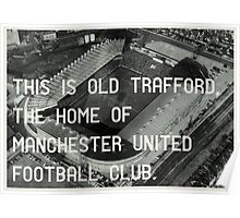 Manchester United Soccer Club Poster