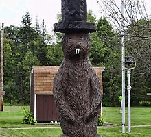 Groundhog statue by vigor