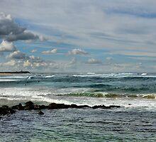 Nobby's Beach Panorama - Newcastle NSW Australia by Bev Woodman