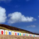 Multi Coloured Beach Boxes by Cat Perkinton