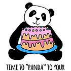 Panda with Cake Birthday Card by Micklyn2