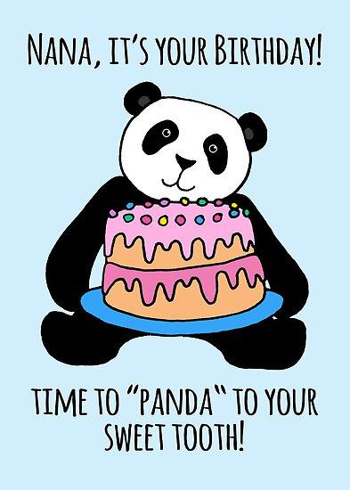 Panda Birthday Card for Nana by Micklyn2