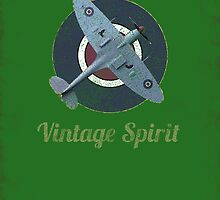 RAF Fighter Vintage Spirit Spitfire Logo Graphic by VintageSpirit