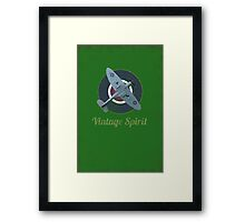 RAF Fighter Vintage Spirit Spitfire Logo Graphic Framed Print