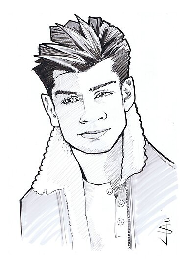 Caricature - Zayn by Jan Szymczuk