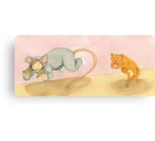 Let's play Cat and Mouse! Canvas Print