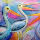 Pelicans 4 by Karin Zeller