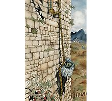 Watercolor Tribute to Arthur Rackham's Rapunzel Photographic Print