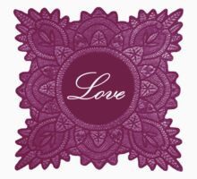Burgundy vintage lace love  by jaclinart