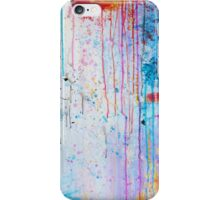 HAPPY TEARS - Bright Cheerful Rainy Day Abstract, Pretty Feminine Whimsical Acrylic Fine Art Painting iPhone Case/Skin