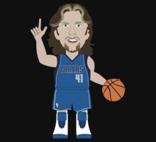 NBAToon of Dirk Nowitzki, player of Dallas Mavericks by D4RK0