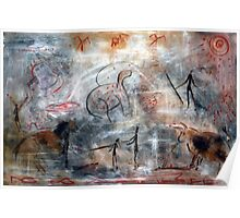 Contemporary Cave Painting Poster