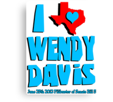 I Heart Wendy Davis Canvas Print