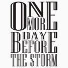 One More Day Before The Storm by PhantomKat813
