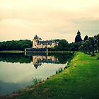 Chateau Overlooking Pond by identit3a